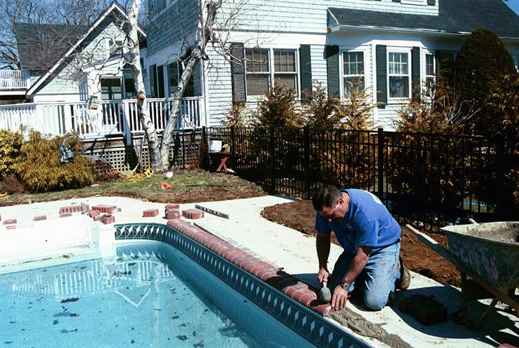 Li pool services smithtown hardscape miller place ny for Backyard makeover with pool