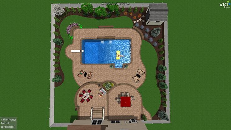 Ronkonkoma Pool Hardscape