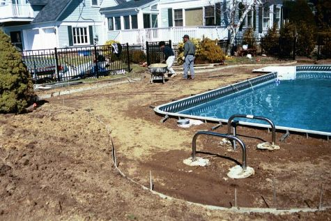 Suffolk County Pool Hardscape