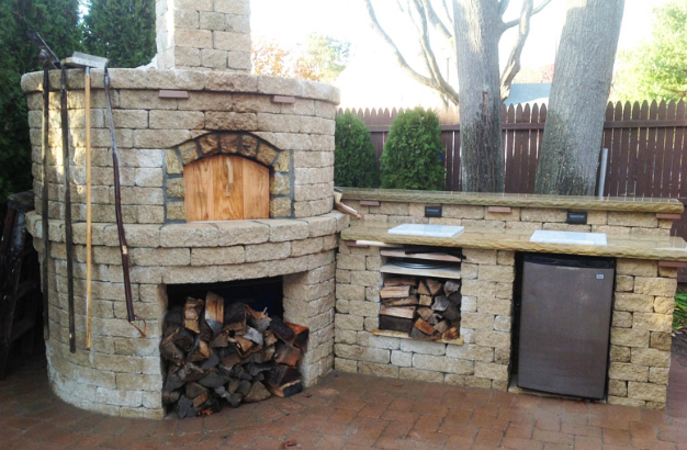 garden design with li outdoor brick pizza ovens long island cambridge brick with backyard fireplace designs