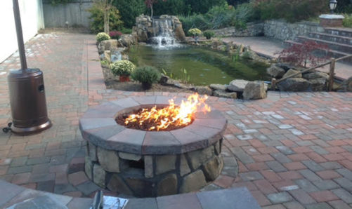 Fire Pit from Long Island Poolscapes