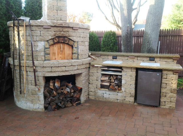 Li outdoor kitchen ronkonkoma brick oven holbrook ny for Outdoor kitchen brick design